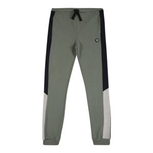 ESPRIT Kalhoty  olivová / černá / šedý melír