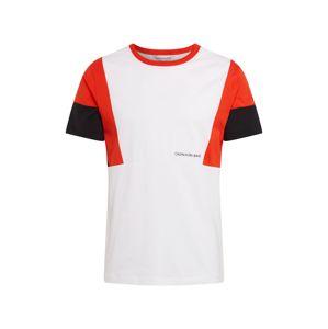 Calvin Klein Jeans Tričko  černá / bílá / červená