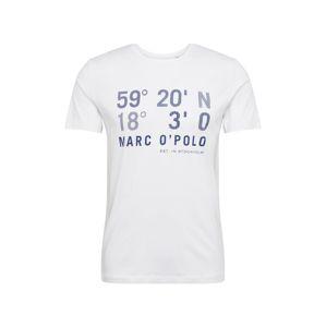 Marc O'Polo Tričko  bílá / modrá