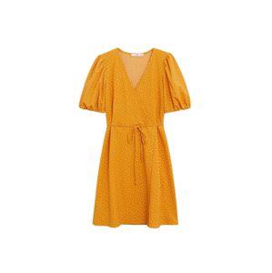 MANGO Šaty  světle žlutá / hořčicová
