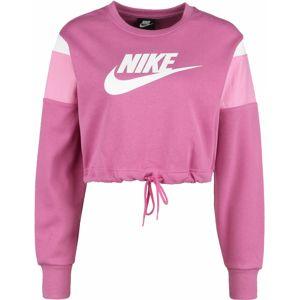 Nike Sportswear Mikina  světle růžová / tmavě růžová / bílá