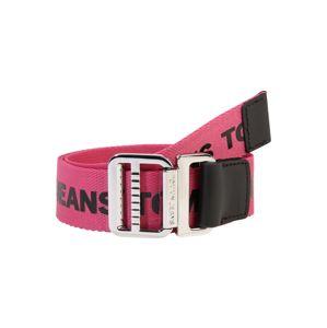 Tommy Jeans Opasek 'Webbing Belt 3.5'  černá / pink