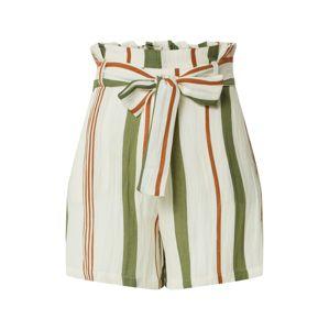 ONLY Kalhoty se sklady v pase 'ONLSUMMER'  béžová / červená / zelená