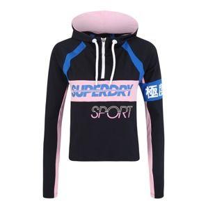 Superdry Sportovní mikina  námořnická modř / růžová