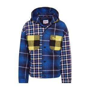 Tommy Jeans Přechodná bunda  modrá / světle žlutá / bílá / černá / mix barev