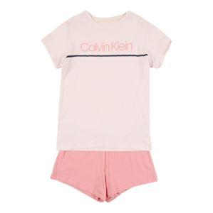 Calvin Klein Underwear Pyžamo  růžová / krémová