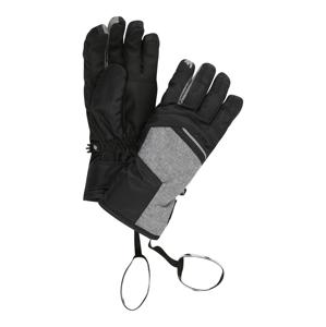 4F Sportovní rukavice  černá / šedý melír