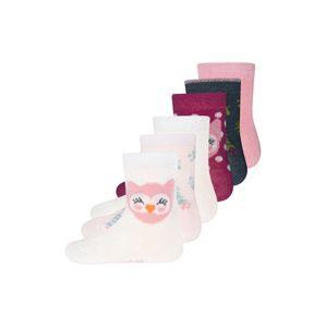 EWERS Ponožky  tmavě červená / bílá / pink
