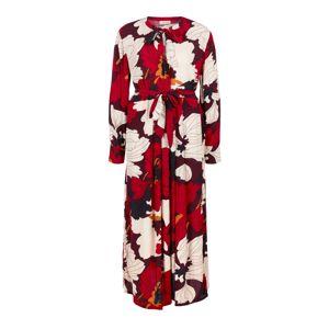 TRIANGLE Šaty  červená / černá / bílá