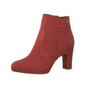 TAMARIS Kotníkové boty  světle červená