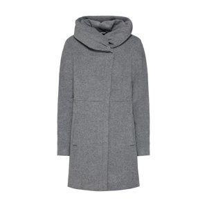 COMMA Zimní kabát  šedý melír