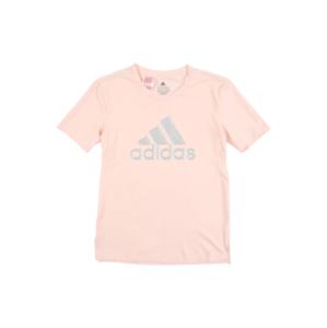 ADIDAS PERFORMANCE Funkční tričko  stříbrná / pastelově růžová