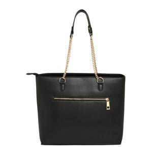 Dorothy Perkins Nákupní taška 'Black Zip Front Shopper'  černá
