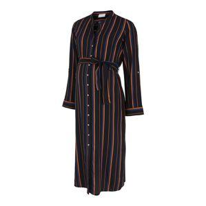 MAMALICIOUS Košilové šaty  černá / oranžová / modrá