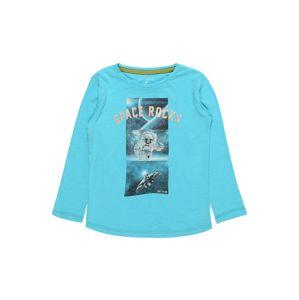 TOM TAILOR Tričko 'T-shirt placed print'  marine modrá / tyrkysová