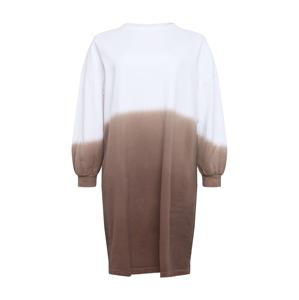 NU-IN Plus Šaty  bílá / hnědá
