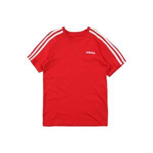 ADIDAS PERFORMANCE Funkční tričko 'YB E 3S TEE'  červená / bílá