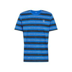 TOM TAILOR Tričko  bílá / modrá / kobaltová modř