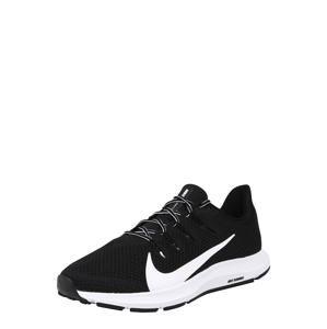NIKE Běžecká obuv 'QUEST 2'  černá / bílá