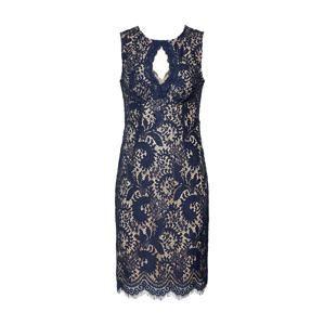 SWING Koktejlové šaty  béžová / modrá / černá