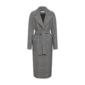 EDITED Přechodný kabát 'Cecilia'  černá / bílá