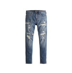 HOLLISTER Džíny 'MEDIUM SELF PATCH SUPER SKINNY 1CC'  modrá džínovina