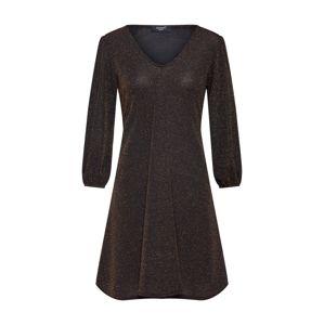 SISTERS POINT Společenské šaty 'NURI-DR'  zlatá / černá
