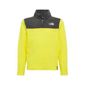 THE NORTH FACE Sportovní svetr 'Glacier'  černá / žlutá