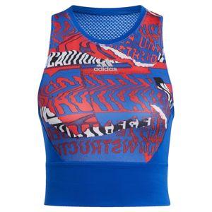 ADIDAS PERFORMANCE Sportovní top  mix barev / modrá
