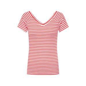 ONLY Tričko 'LABELLA'  červená / bílá