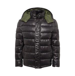 Pepe Jeans Zimní bunda 'HUGH'  khaki / černá