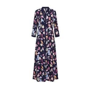 Y.A.S Společenské šaty 'YASHANNAH 3/4 SHIRT ANKLE DRESS'  námořnická modř / žlutá / růžová