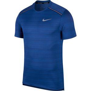 NIKE Funkční tričko 'Dry Miller'  stříbrná / královská modrá