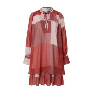 mbym Šaty 'Melinna'  červená / vínově červená / burgundská červeň / bílá