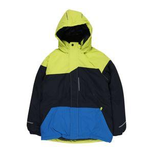 NAME IT Funkční bunda  modrá / zelená / černá