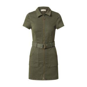 Tally Weijl Košilové šaty 'WOVEN'  khaki