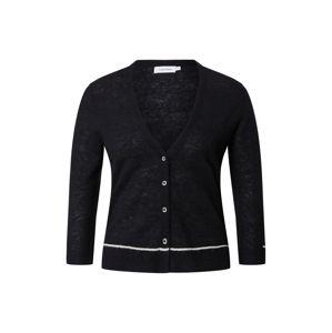Calvin Klein Kardigan  bílá / černá
