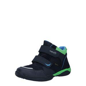 SUPERFIT Kozačky 'STORM'  tmavě zelená / marine modrá / světlemodrá
