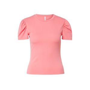 ONLY Tričko 'RIBBY'  světle růžová