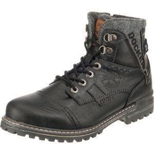 Dockers by Gerli Šněrovací boty  šedý melír / černá