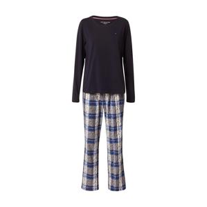 Tommy Hilfiger Underwear Pyžamo  noční modrá / modrá / bílá / šedá
