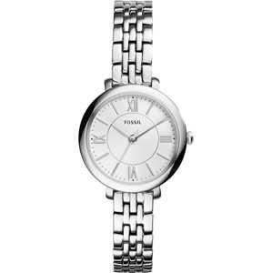 FOSSIL Analogové hodinky 'Jacqueline'  stříbrná / bílá
