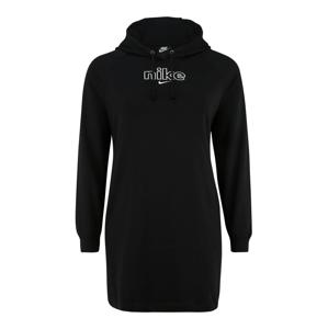 Nike Sportswear Šaty  černá / bílá