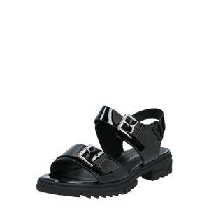 VERO MODA Páskové sandály  černá