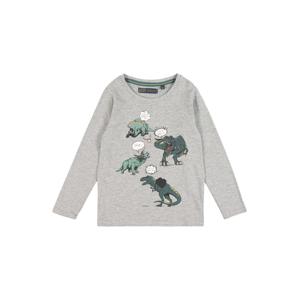 LEMON BERET Tričko  šedý melír / zelená
