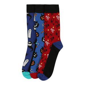 JACK & JONES Ponožky 'Halloween'  červená / modrá / mix barev