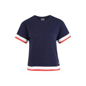 ASICS Funkční tričko 'W TOKYO SS TRAIN TOP'  červená / tmavě modrá / bílá