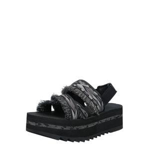 TEVA Páskové sandály  černá / tmavě šedá / světle šedá