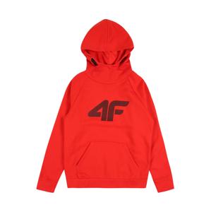 4F Sportovní mikina  černá / krvavě červená