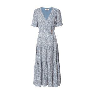 Louche Letní šaty 'EMIN FLAX'  světlemodrá / trávově zelená / bílá